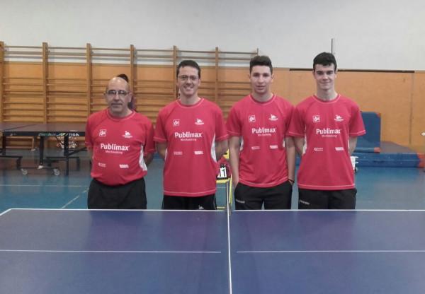 Foto: De izquierda a derecha, Raúl Aguilar, Javier Rey, David Frago y Héctor Villarroya