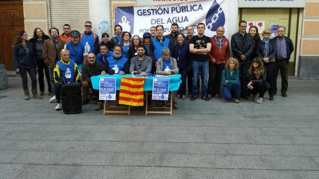 La cuarta jornada de la Caravana por el Agua Pública continúa en Balbastro