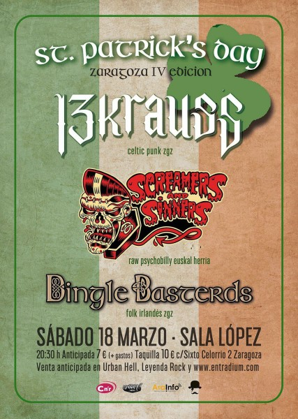 ST PATRICKS DAY ZGZ 2017