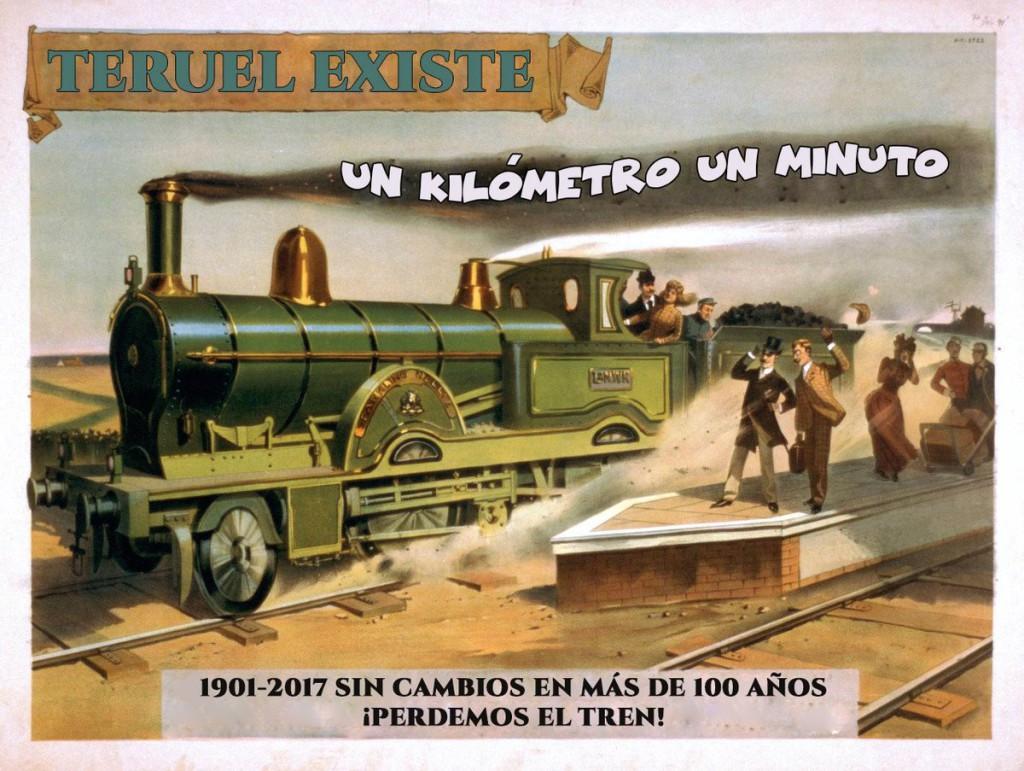 Movilización para exigir el corredor ferroviario Cantábrico-Mediterráneo por Teruel