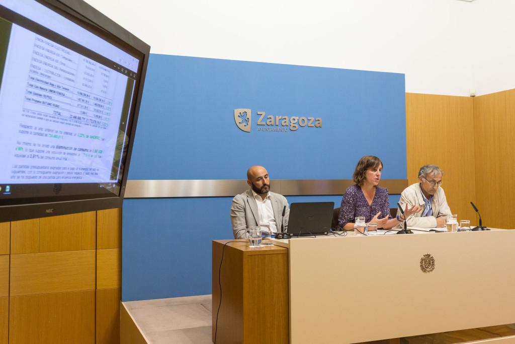 El Ayuntamiento de Zaragoza redujo en 1.719 toneladas de CO2 sus emisiones en 2016