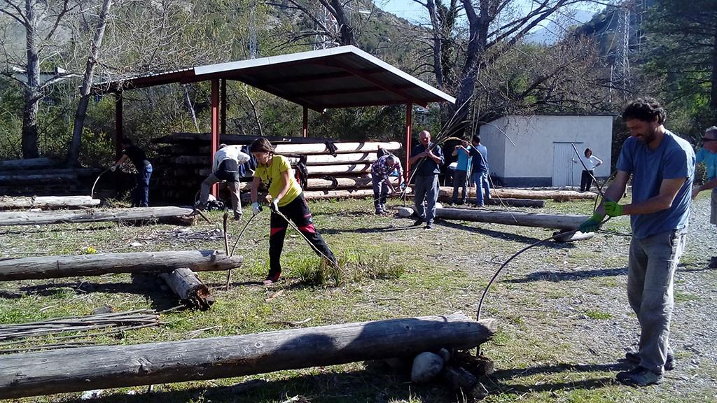 500 berdugos retorcidos con el trabajo de las y los nabateros en Laspuña