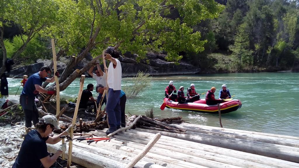 Intenso fin de semana de trabajos nabateros en el río Galligo