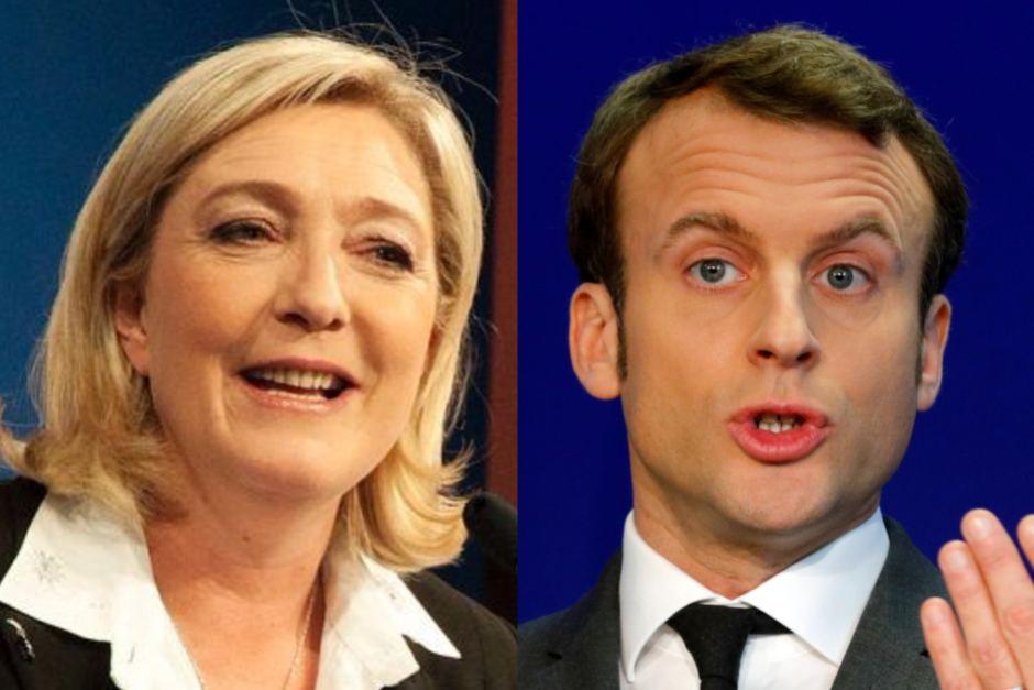 Le Pen y Macron.