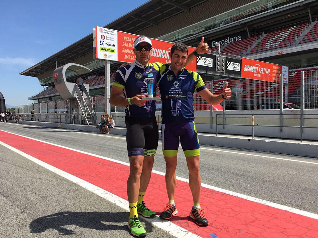 Germán Agud y Javi Bagué plata en las II 24H Madform Bicircuit de resistencia disputado en el Circuito Catalunya