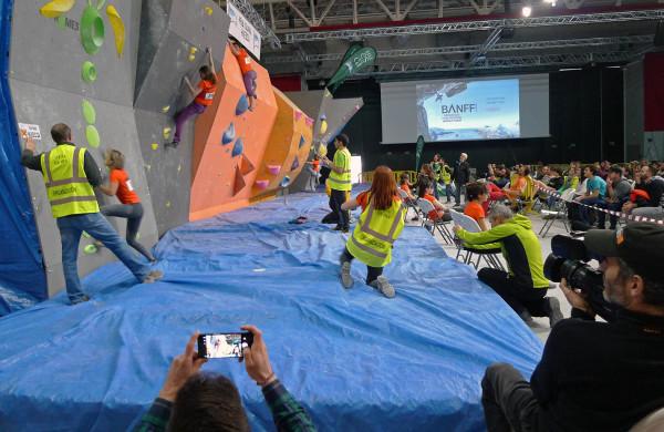 La 2ª Competición Internacional de Escalda en Bloque 'Ciudad de Huesca' fue otro de los actos más destacados congregando a más de 800 personas. Foto: BANFF