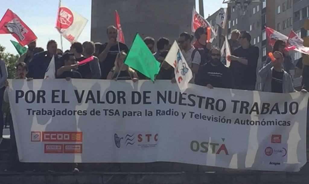 Éxito de los paros en TSA Aragón y nueva convocatoria de huelga para el próximo día 11 de mayo