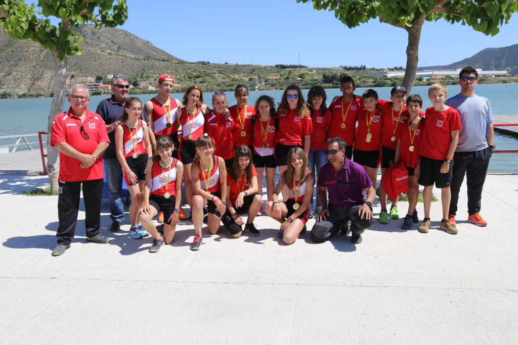El Capri Club de Mequinensa consigue un excelente resultado en el Campeonato de Aragón de Velocidad de Regatas