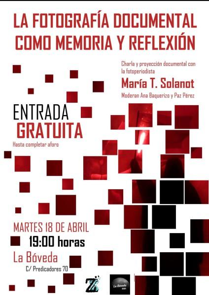 Cartel de la Jornada ZeroGrados y María T. Solanot