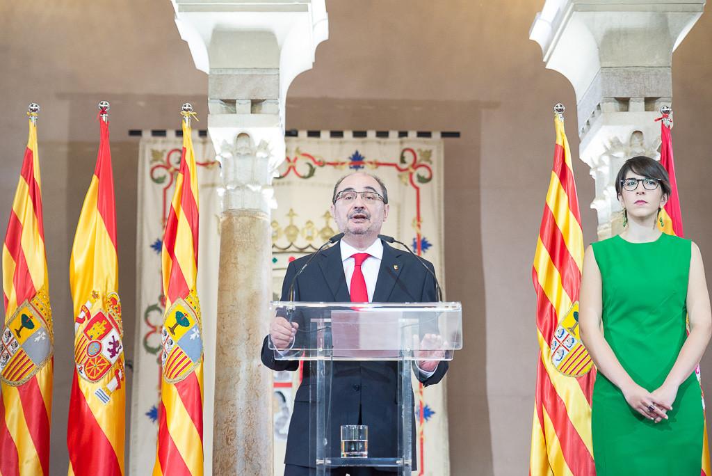 """En el Diya d'Aragón, Lambán establece la educación, cultura e investigación como """"prioridades de las políticas públicas"""""""