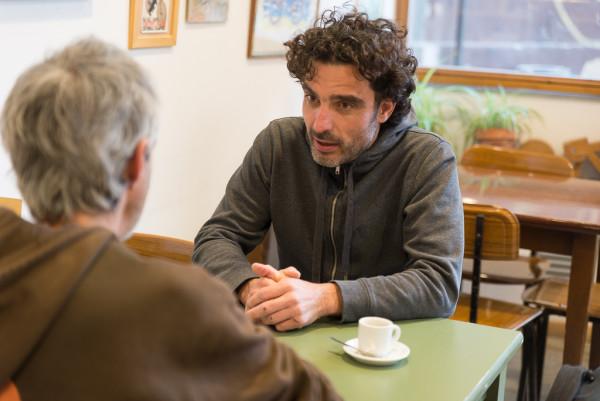 David Arribas y Félix A. Rivas durante la entrevista. Foto: Pablo Ibáñez (AraInfo)