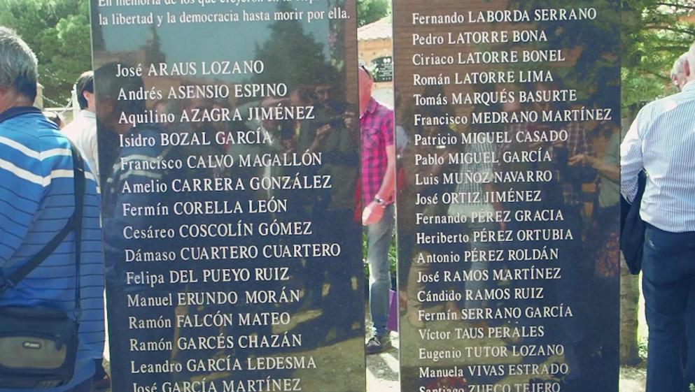 Homenaje fusilados Tarazona 14A17 Redondo de Confusión