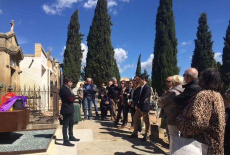 Inauguración del memorial-osario de las víctimas de la Batalla de Caspe