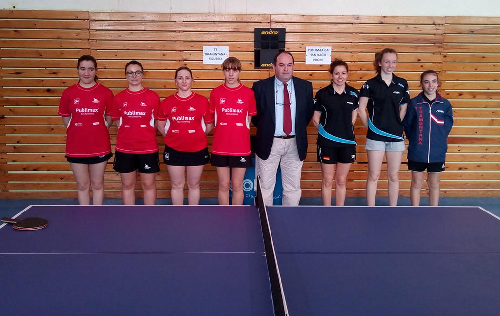 Publimax CAI Santiago Promesas femenino acaba en quinto lugar en Primera División de Tenis de Mesa