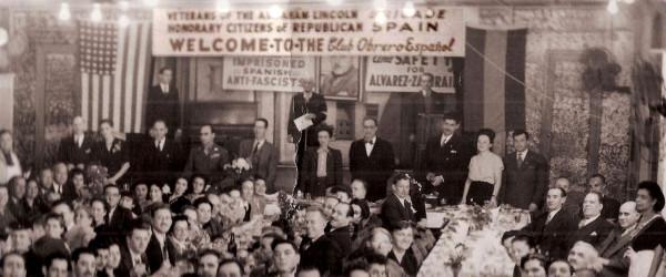 Reunión de la Brigada Lincoln en Nueva York.