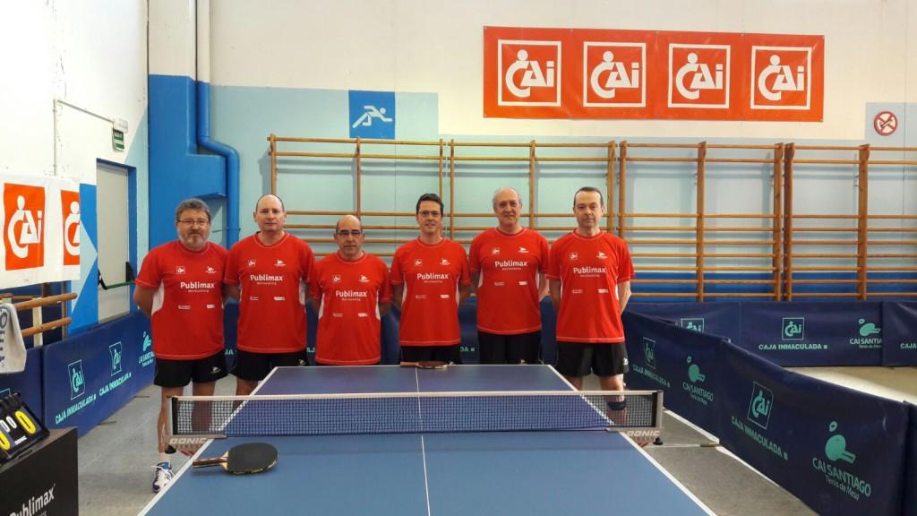 Publimax Cai Santiago y CN Helios afrontan el Campeonato Estatal de Veteranos de Tenis de Mesa