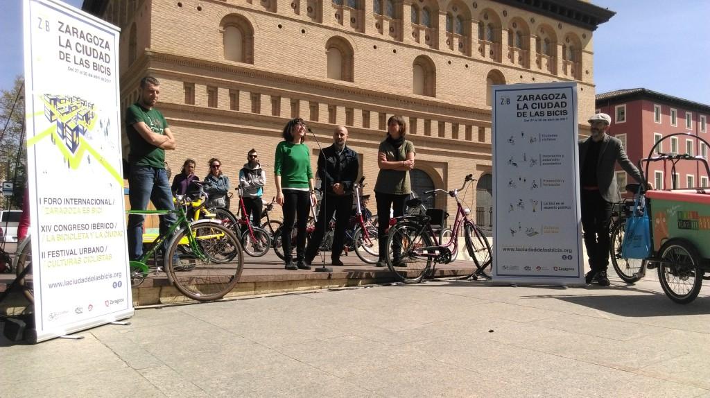La Ciudad de las Bicis comienza a rodar por Zaragoza
