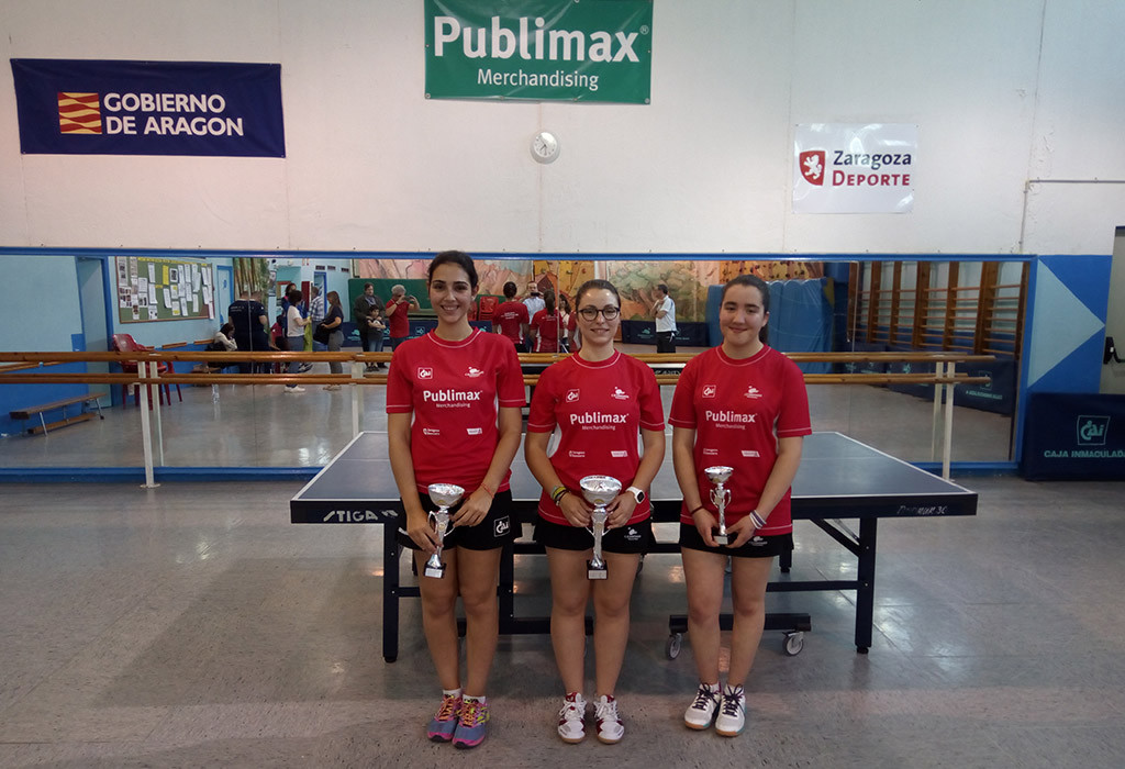 La palista del Publimax, Sara Escota, campeona de Aragón Absoluta de Tenis de Mesa