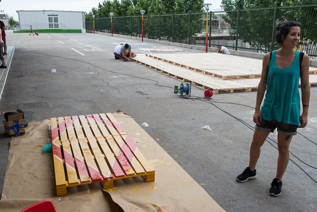 Llenar de vida el hormigón del patio del colegio