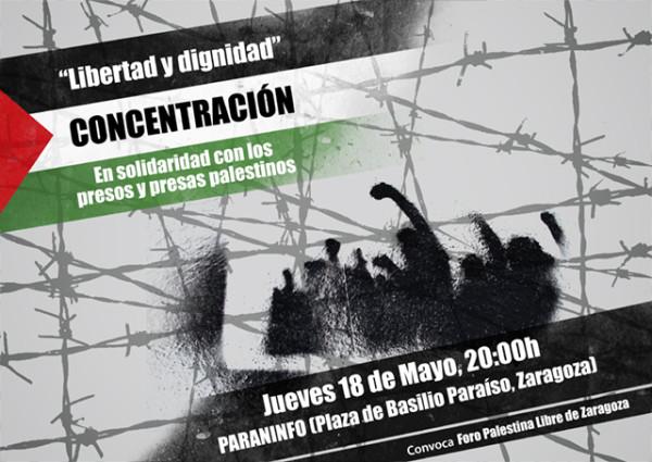 Concentración apoyo presos palestinos