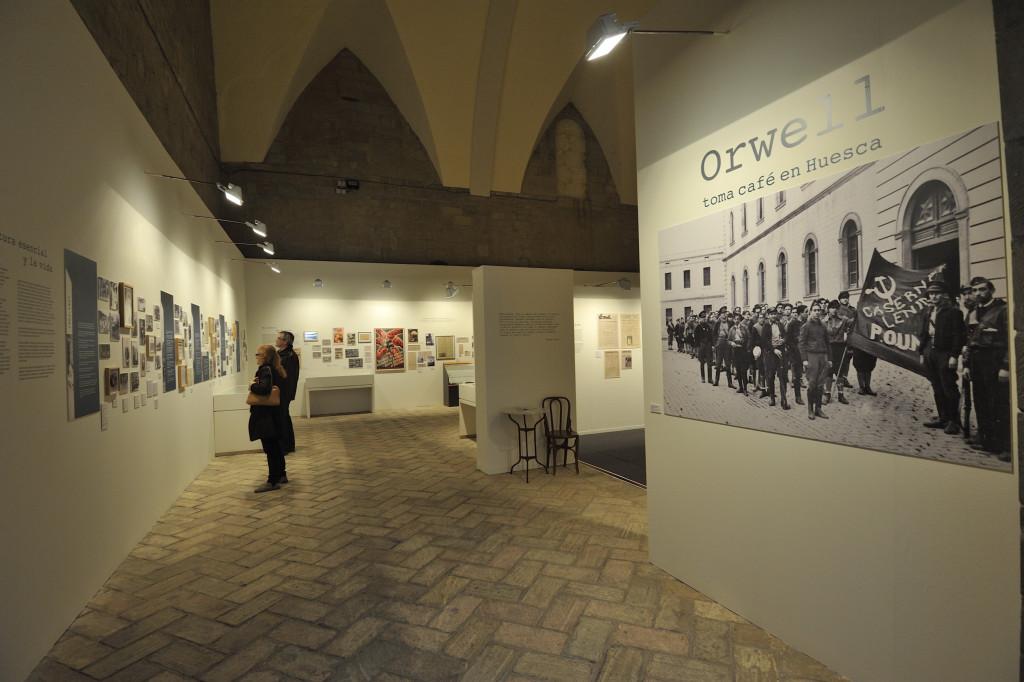 La exposición de Orwell en Uesca registra más de 11.500 visitantes a mes y medio de su cierre