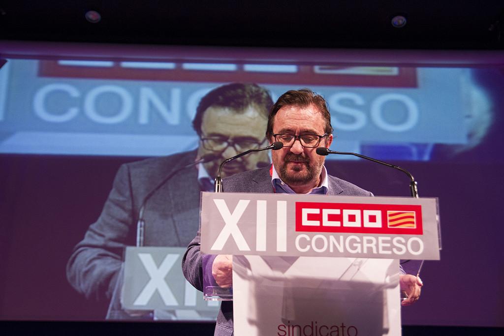 Buey, Toxo y Lambán inauguran el XII Congreso de CCOO Aragón