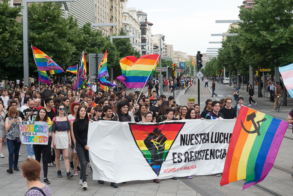 El colectivo HU-Entiende LGTB+ reivindica sus derechos en el Día de la Visibilidad Lésbica