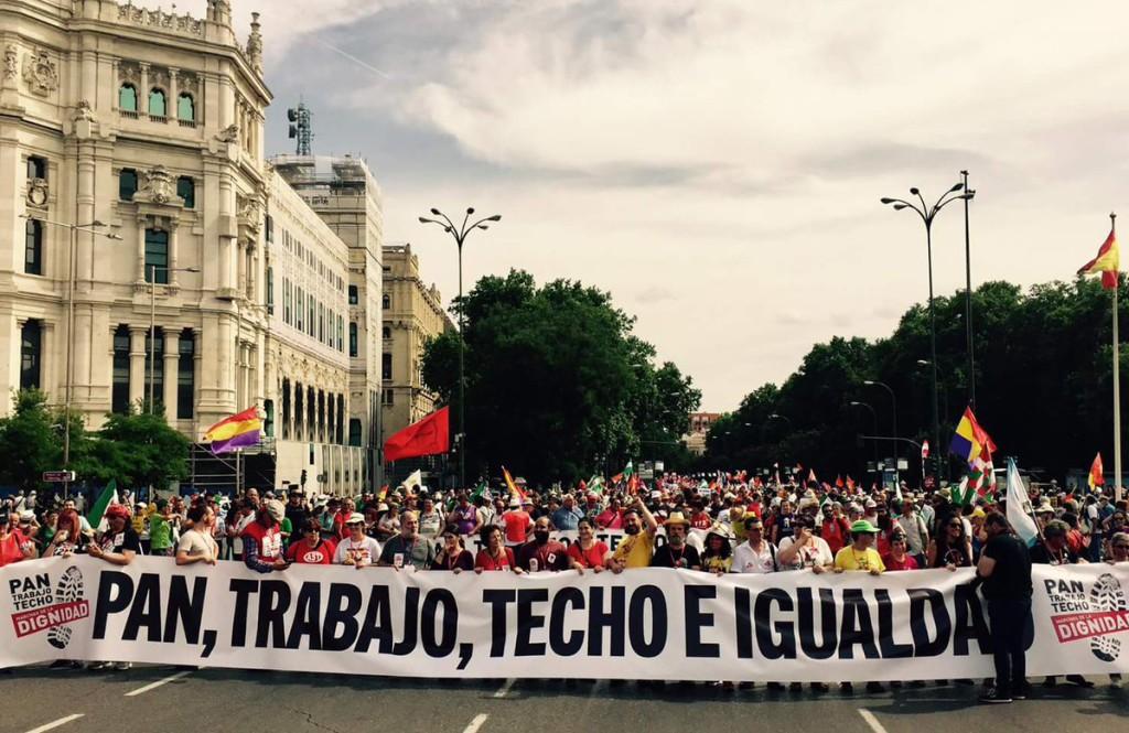Las Marchas de la Dignidad de Aragón ante las movilizaciones del 24 y 27 de octubre