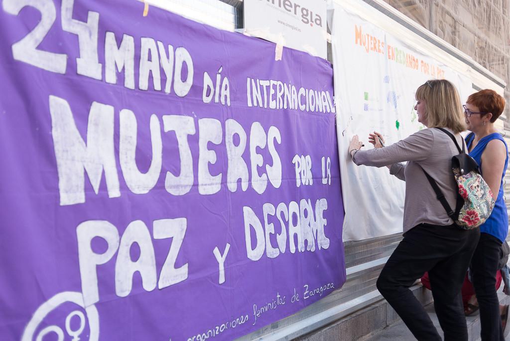 La Coordinadora de Organizaciones Feministas de Zaragoza reivindica el papel de la mujer en el Día Internacional por la Paz y el Desarme