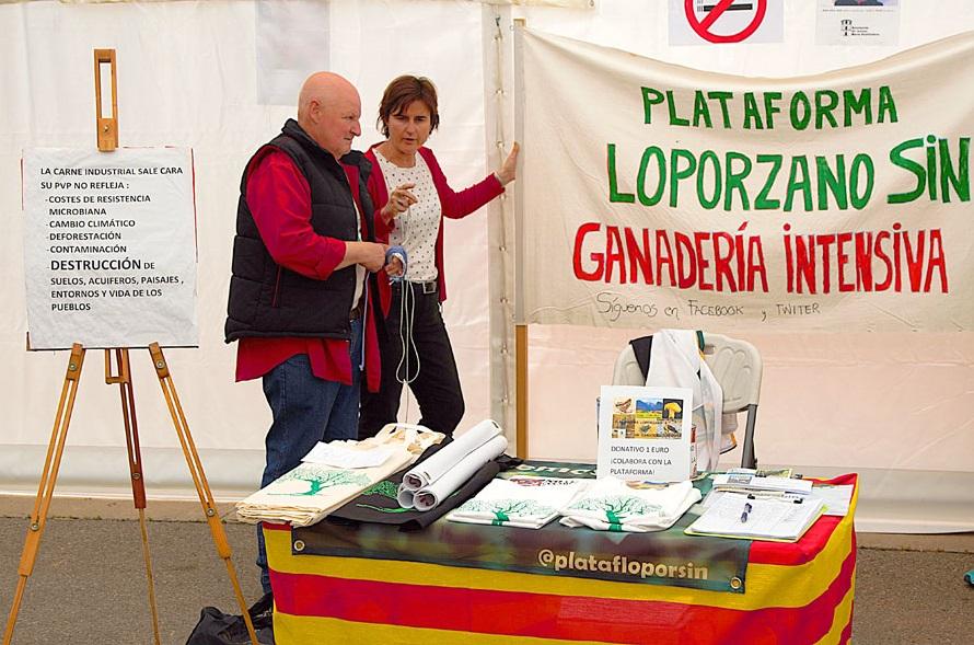 La Plataforma Loporzano SIN Ganadería Intesiva confirma su presencia en la Feria del Libro de Uesca