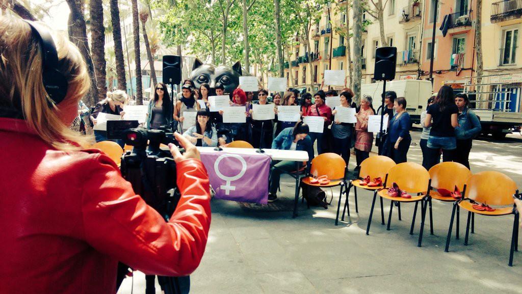 Les dones de l'Esquerra Independentista catalana assenyalen els responsables de la violència masclista i dels feminicidis