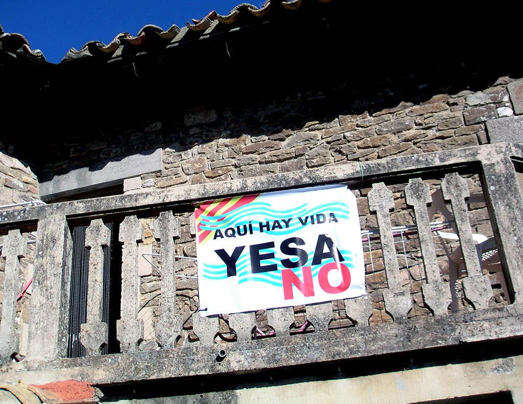 Río Aragón: «La CHE vuelve a mentir sobre el recrecimiento de Yesa»