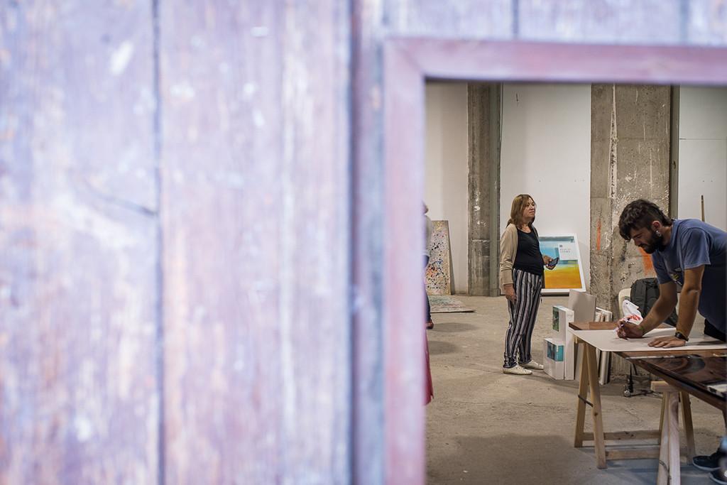 Jornada de puertas abiertas en LIARTe para poner fin a una semana de trabajo artístico en Balbastro
