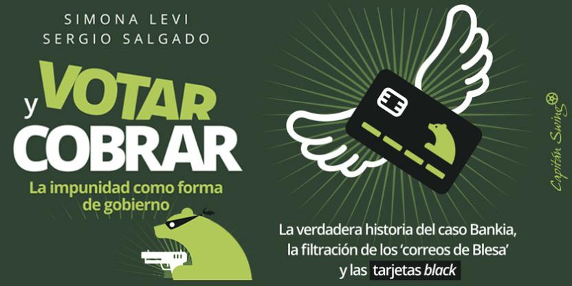 'Votar y cobrar: la impunidad como forma de gobierno' de Simona Levi y Sergio Salgado en la Feria del Libro de Zaragoza