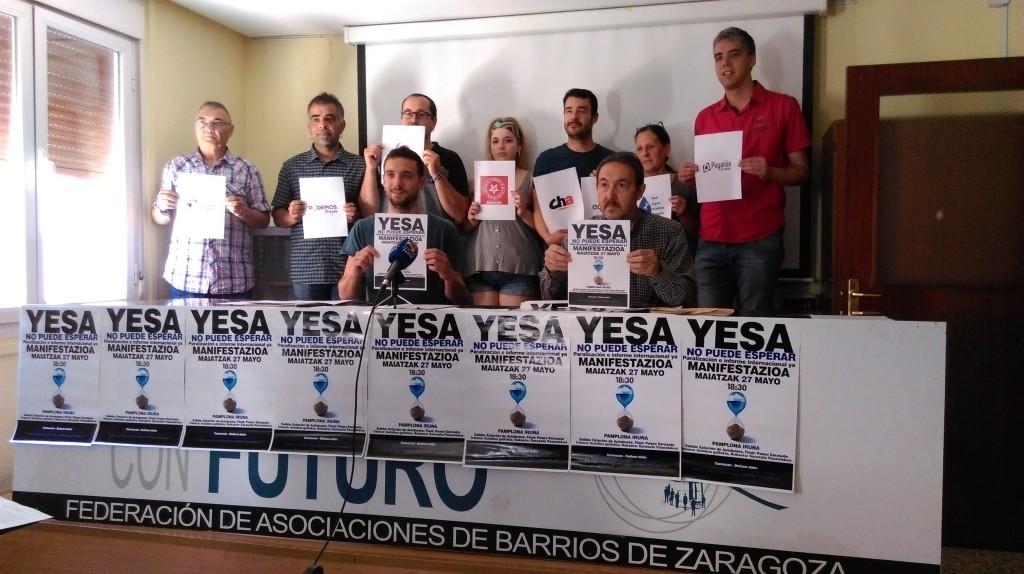 Asociaciones de Aragón y Nafarroa convocan una manifestación contra las obras de recrecimiento del pantano de Yesa