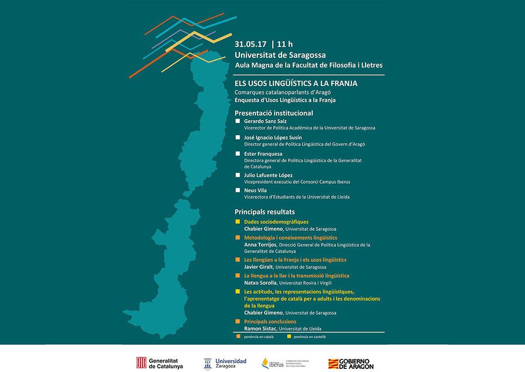 La Universitat de Saragossa acull la presentació de l'enquesta d'Usos Lingüístics de la Franja