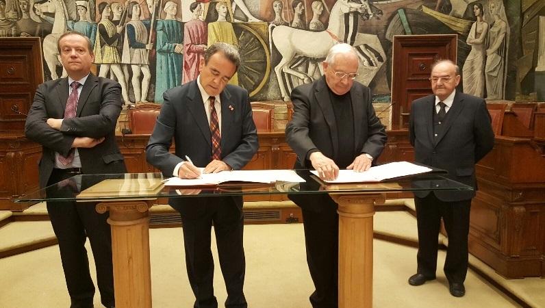 La Diputación de Zaragoza firma un convenio con la Iglesia para invertir 1,4 millones de euros en conservación del patrimonio eclesiástico