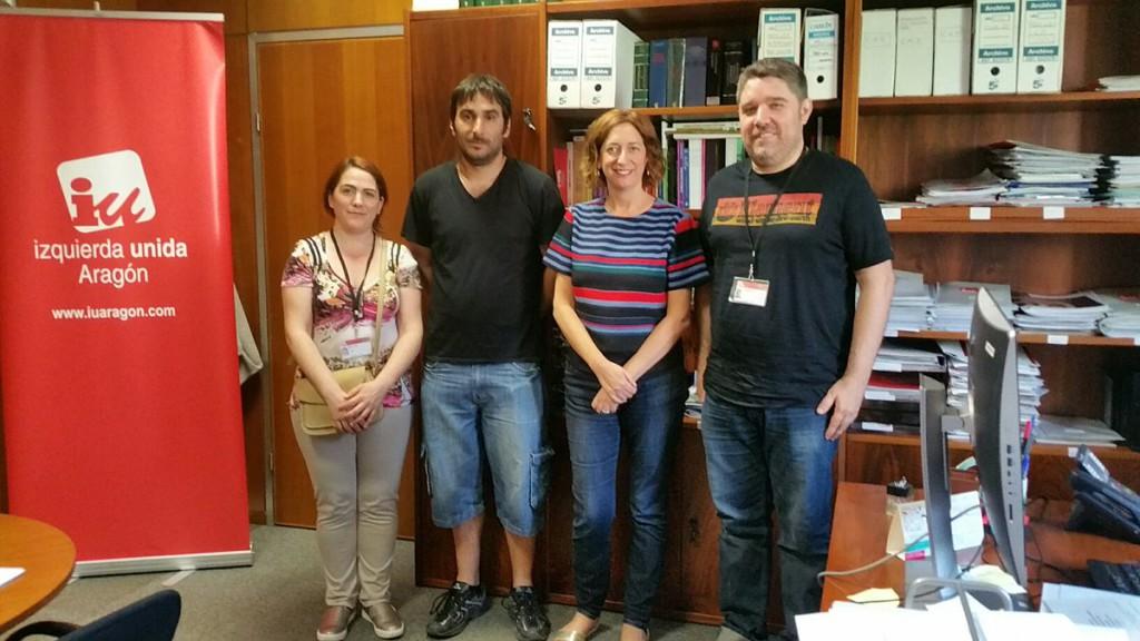 IU apoya las reivindicaciones del sector hostelero de Zaragoza por un convenio justo