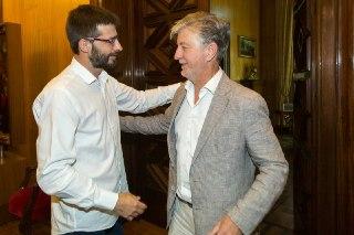 Santisteve y Sanz se reúnen tras la elección del nuevo Coordinador General de IU Aragón