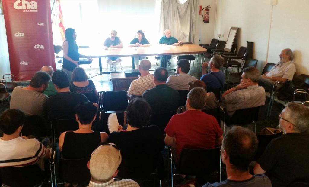 La Comisión de Coordinación de CHA Altoaragón muestra su rechazo al pantano de Biscarrués