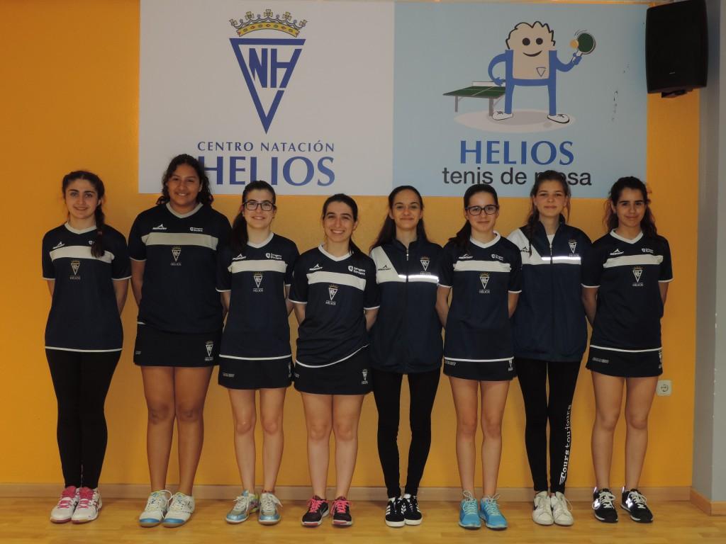 Numerosa participación del CN Helios en los Campeonatos Estatales de Tenis de Mesa