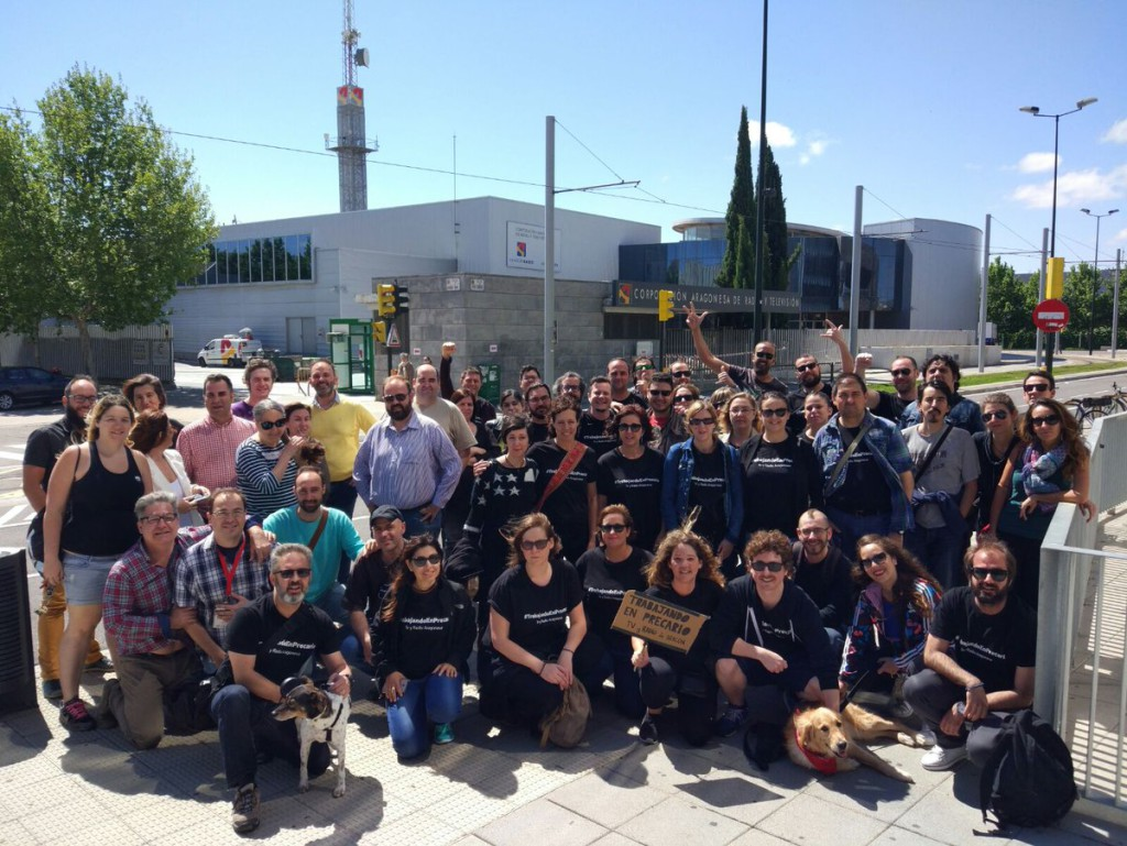 Éxito del paro en TSA Aragón