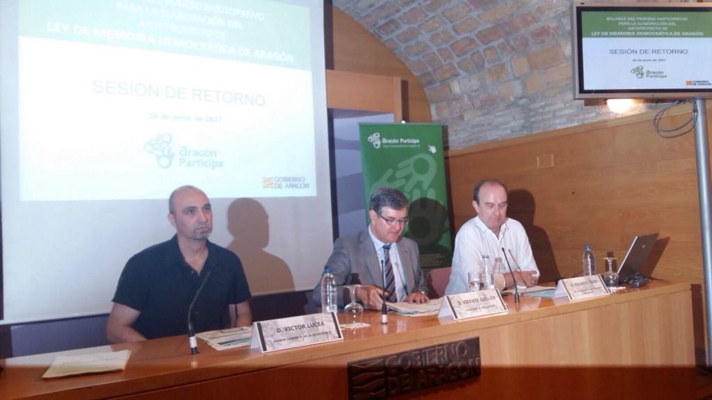 La futura Ley de Memoria Democrática de Aragón recibe más de 600 enmiendas en el proceso de participación