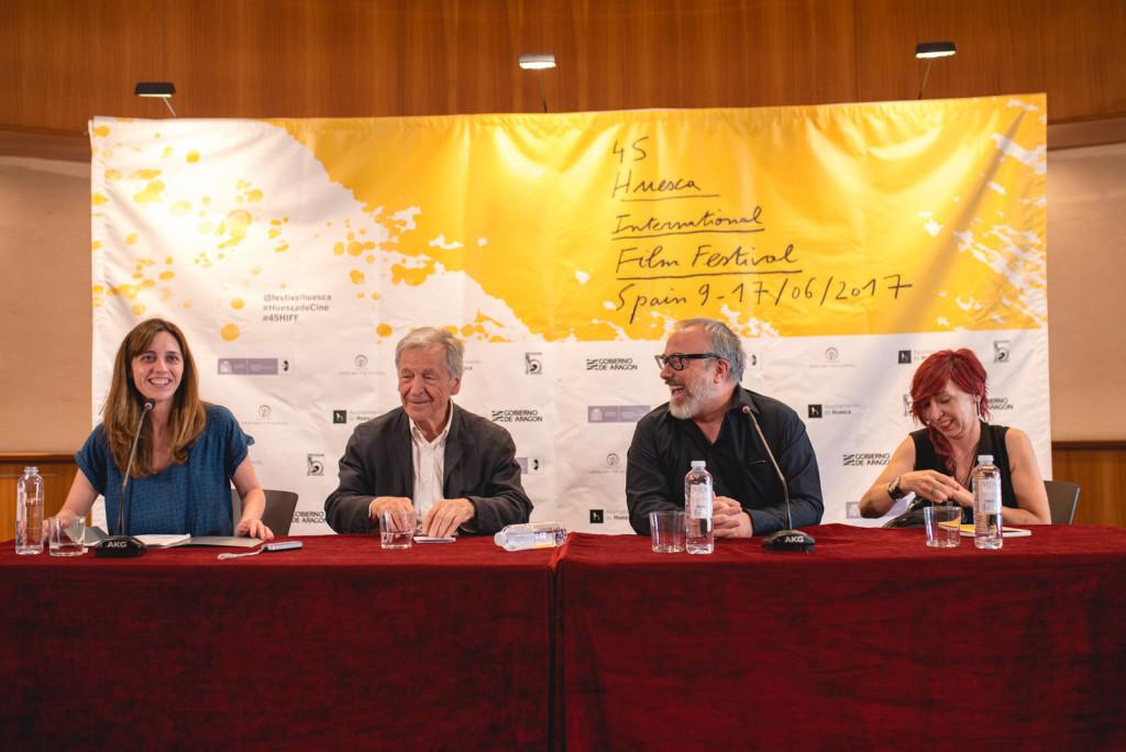 Costa-Gavras y Álex de la Iglesia reciben sendos premios del 45ª Festival Internacional de Cine de Uesca