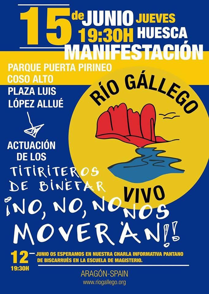 Invitación a la manifestación por un 'Río Gállego vivo'