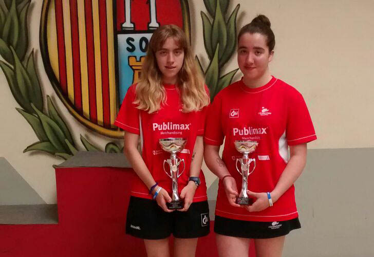 Myriam Pascualena, campeona de Aragón juvenil de Tenis de Mesa por edades