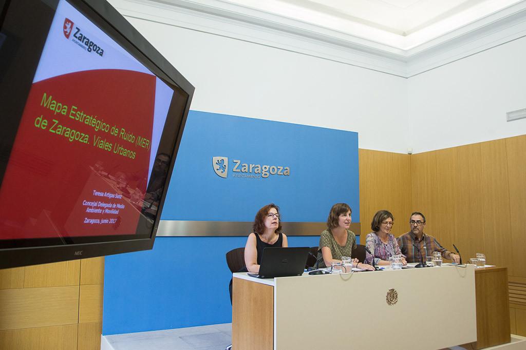 El Ayuntamiento de Zaragoza presenta el nuevo Mapa Estratégico del Ruido en relación a los viales urbanos