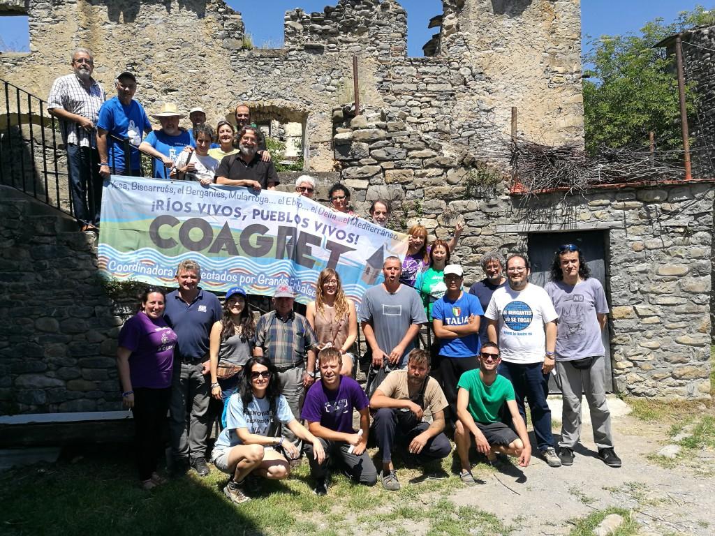 """COAGRET muestra su oposición a los proyectos hidráulicos que """"agreden a los pueblos y al territorio de Aragón"""""""