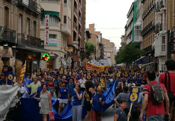 El Alto Aragón se moviliza contra el pantano de Biscarrués