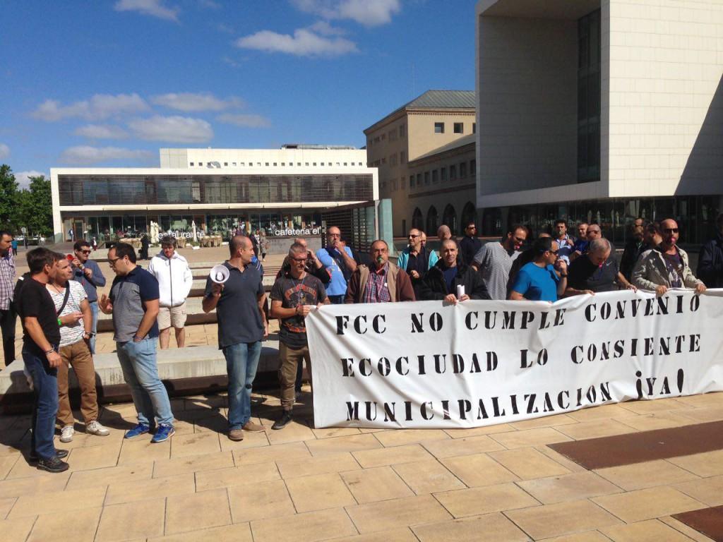 Nueva jornada de huelga este viernes en el servicio municipal de Alcantarillado de Zaragoza